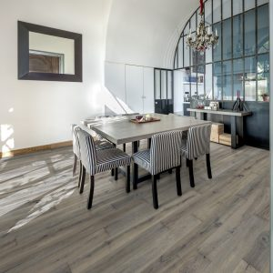 Kahrs Maple Bruma engineered flooring in a dining room