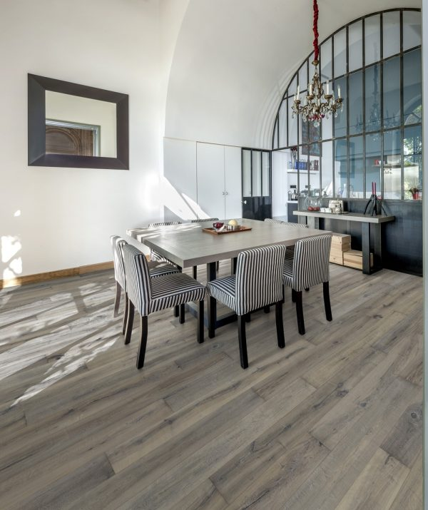 Kahrs Maple Bruma engineered flooring in a dining room