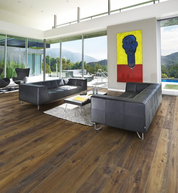 Kahrs Oak Rye in a lounge setting