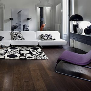 Kahrs Nouveau Black engineered timber flooring