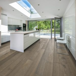 Kahrs Nouveau Greige engineered timber flooring